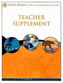 God's Design for Chemistry & Ecology Teacher Supplement [With CDROM]