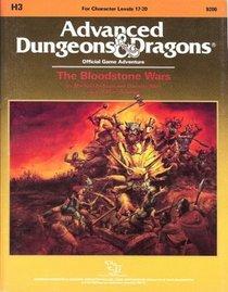 Bloodstone Wars (Advanced Dungeons & Dragons/Forgotten Realms Module H3)