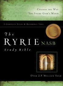The Ryrie NAS Study Bible Bonded Leather Black Red Letter Indexed