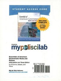 MyPoliSciLab with Pearson eText Student Access Code Card for Essentials of American Government (standalone) (9th Edition) (Mypoliscilab (Access Codes))
