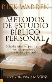 M�todos de Estudio Biblico Personal : 12 ways to study the Bible on your own