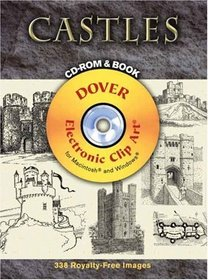 Castles CD-ROM and Book (Dover Electronic Clip Art)