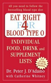 Eat Right for Blood Type O: Individual Food, Drink and Supplement Lists: Individual Food, Drink and Supplement Lists (Eat Right for Your Type)