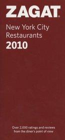2010 New York City Restaurants (ZAGAT Restaurant Guides)