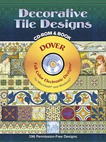 Decorative Tile Designs CD-ROM and Book (Full Colour Electronic Design)