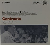 Epstein's Law School Legends Audio on Contracts, 3d (Law School Legends Audio Series) (English and English Edition)