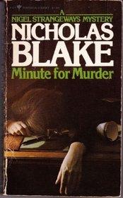 Minute for Murder (Nigel Strangeways, Bk 8)