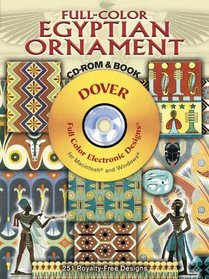 Full-Color Egyptian Ornament CD-ROM and Book (Dover Full-Color Electronic Design)