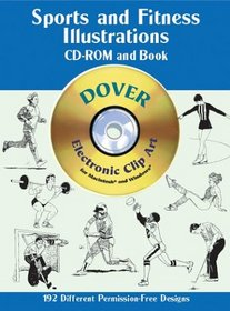 Sports and Fitness Illustrations CD-ROM and Book (Dover Pictorial Archives)