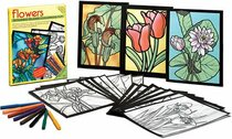 Flowers Stained Glass Coloring Kit (Boxed Sets/Bindups)