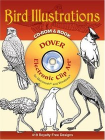 Bird Illustrations CD-ROM and Book (Dover Electronic Clip Art)