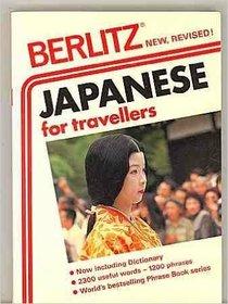 Berlitz Japanese for Travellers Phrase Book (Berlitz Phrase Books)