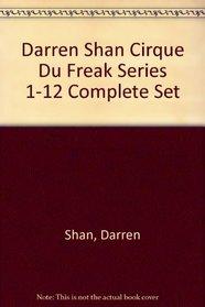 Darren Shan The Vampire's Assistant Cirque Du Freak Set 1-12