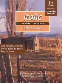 Italic Handwriting Series: Instruction Manual