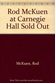 Rod McKuen at Carnegie Hall Sold Out