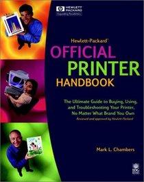 Hewlett-Packard Official Printer Handbook