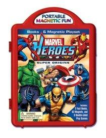 Marvel Heroes Super Origins Book & Magnetic Playset (Marvel Magnetic)