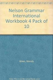 Nelson Grammar International Workbook 4 Pack of 10