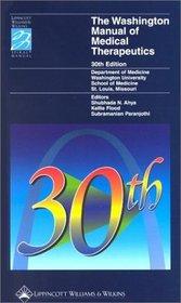 The Washington Manual of Medical Therapeutics (Washington Manual of Medical Therapeutics)