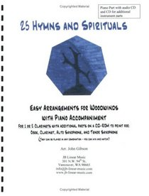 25 Hymns and Spirituals for Clarinets and Piano