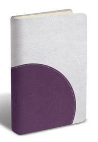 The Message: The Bible in Contemporary Language, Numbered Edition, Stone and Purple, Leather Look