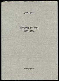 Recent Poems 1986-1990