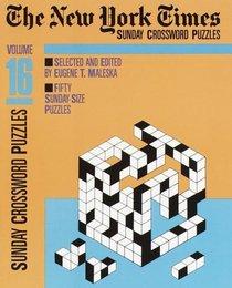 New York Times Sunday Crosswords, Volume 16 (NY Times)