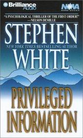 Privileged Information (Dr. Alan Gregory, Bk 1) (Audio Cassette) (Abridged)