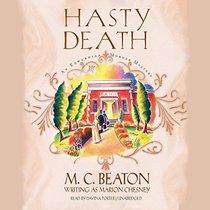Hasty Death  (Edwardian Murder Mysteries, Book 2)
