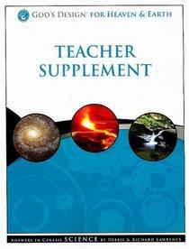 God's Design for Heaven & Earth Teacher Supplement [With 2 CDROMs]