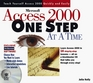 Microsoft Access 2000 One Step at a Time