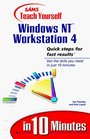 Sams Teach Yourself Windows NT Workstation 4 in 10 Minutes