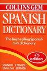 Collins Gem Spanish Dictionary Spanish English English Spanish