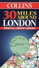 Collins 30 Miles Around London Shows All London's Airports
