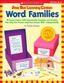 Shoe Box Learning Centers Word Families 30 Instant Centers With Reproducible Templates and Activities That Help Kids Practice Important Literacy Skills-Independently