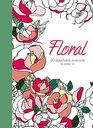 Floral 20 detachable postcards to color in