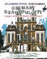 Coloring Book Sketchbook Germany Beautiful City Happy Home Activity for Adult Adult Activity Book