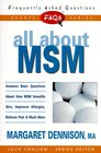 FAQs All about MSM (Freqently Asked Questions)