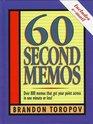 60 Second Memos