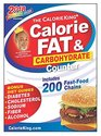 The CalorieKing Calorie Fat  Carbohydrate Counter 2018 Larger Print edition