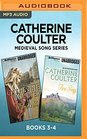 Catherine Coulter Medieval Song Series Books 3-4 Warrior's Song  Fire Song