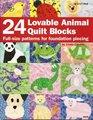 24 Loveable Animal Quilt Blocks