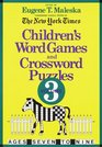 Children's Word Games and Crossword Puzzles Volume 3