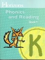 Horizons K Phonics and Reading Book 4 (Lifepac)