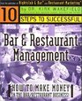 10 Steps to Successful Bar & Restaurant Management