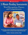 3-Minute Reading Assessments Word Recognition Fluency and Comprehension  Short Passages and Step-by-Step Directions to Assess Reading Performance   r-and Quickly Identify Students Who Need Help