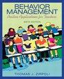 Behavior Management Positive Applications for Teachers