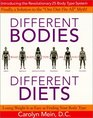 Different Bodies Different Diets Introducing the Revolutionary 25 Body Type System