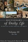 Dictionary of Daily Life in Biblical and Postbiblical Antiquity
