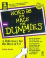 Word 98 for Macs for Dummies